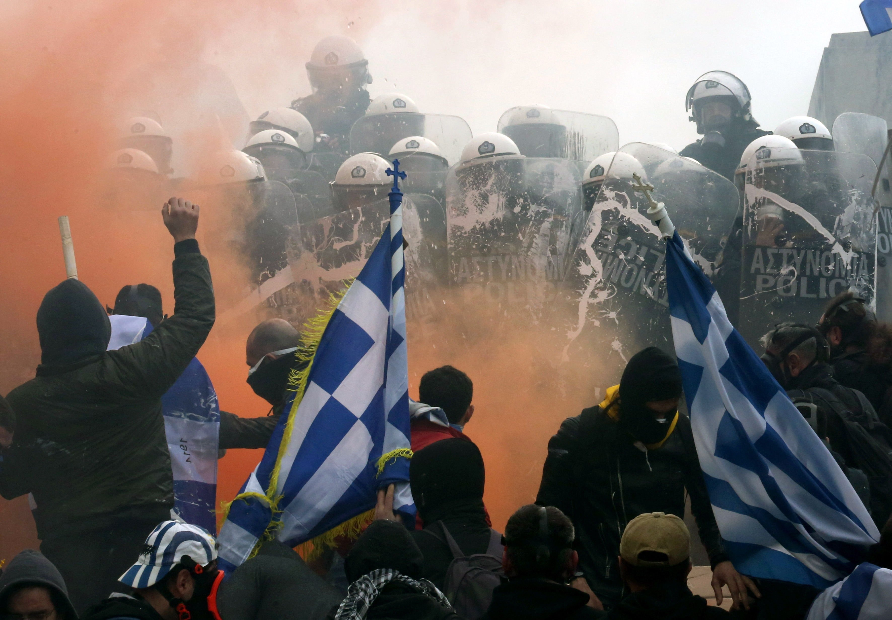 Manifestacions Atenas EFE
