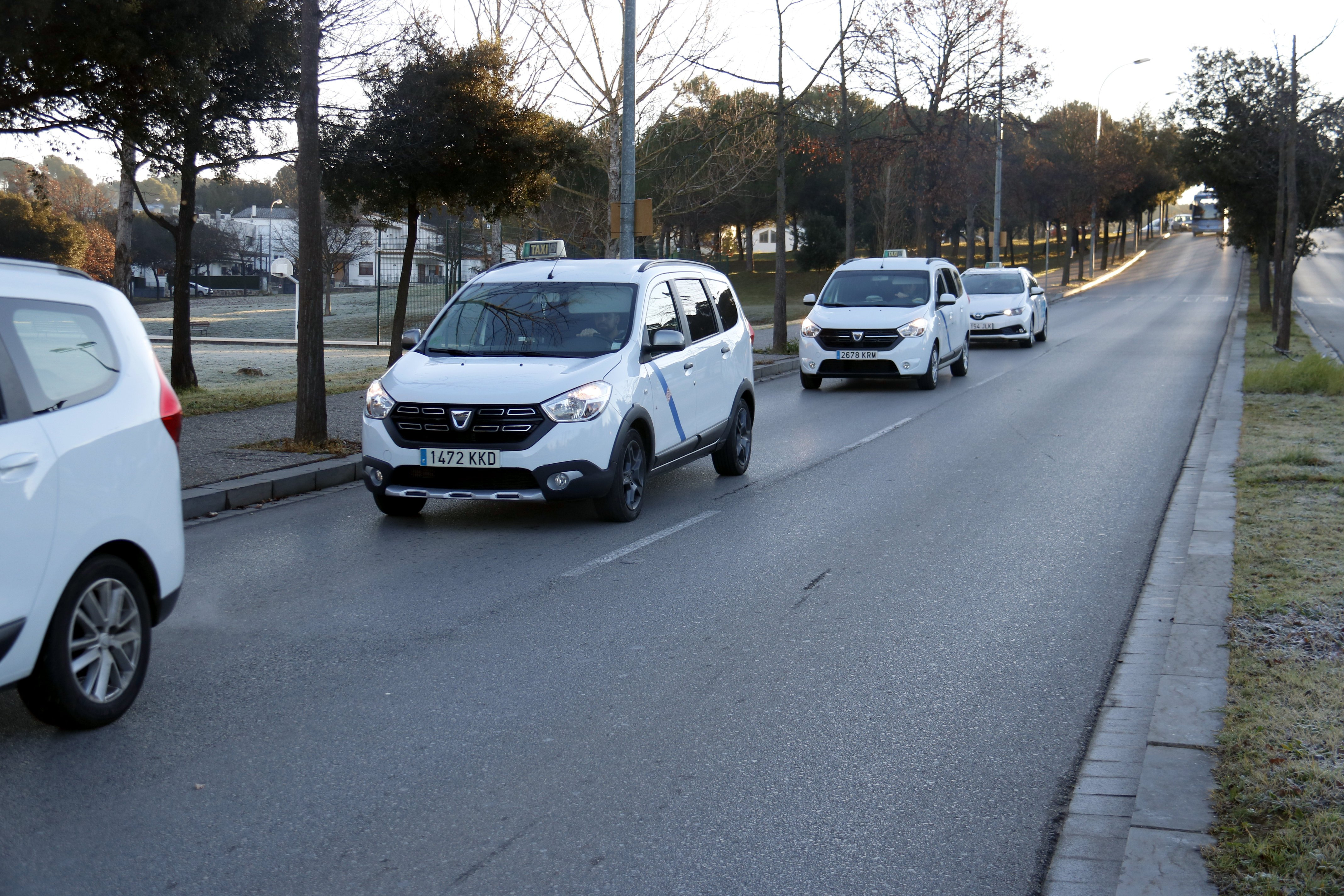 Marxa Lenta taxistes Girona ACN
