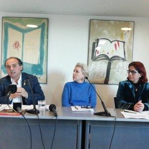 PEN INternacional Català Jennifer Clement, Angels Gregori i Carles Torner