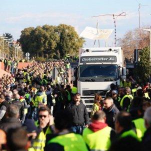 Taxistes tallen Ronda Litoral Sergi Alcázar