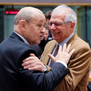 josep borrell ministre exteriors frança Jean-Yves Le Drian - efe