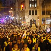 vaga taxistes manifestacio via laietana - Sergi Alcàzar