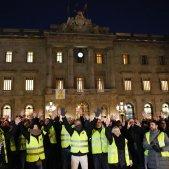 manifestacio vaga taxistes plaça sant jaume ajuntament - Sergi Alcàzar