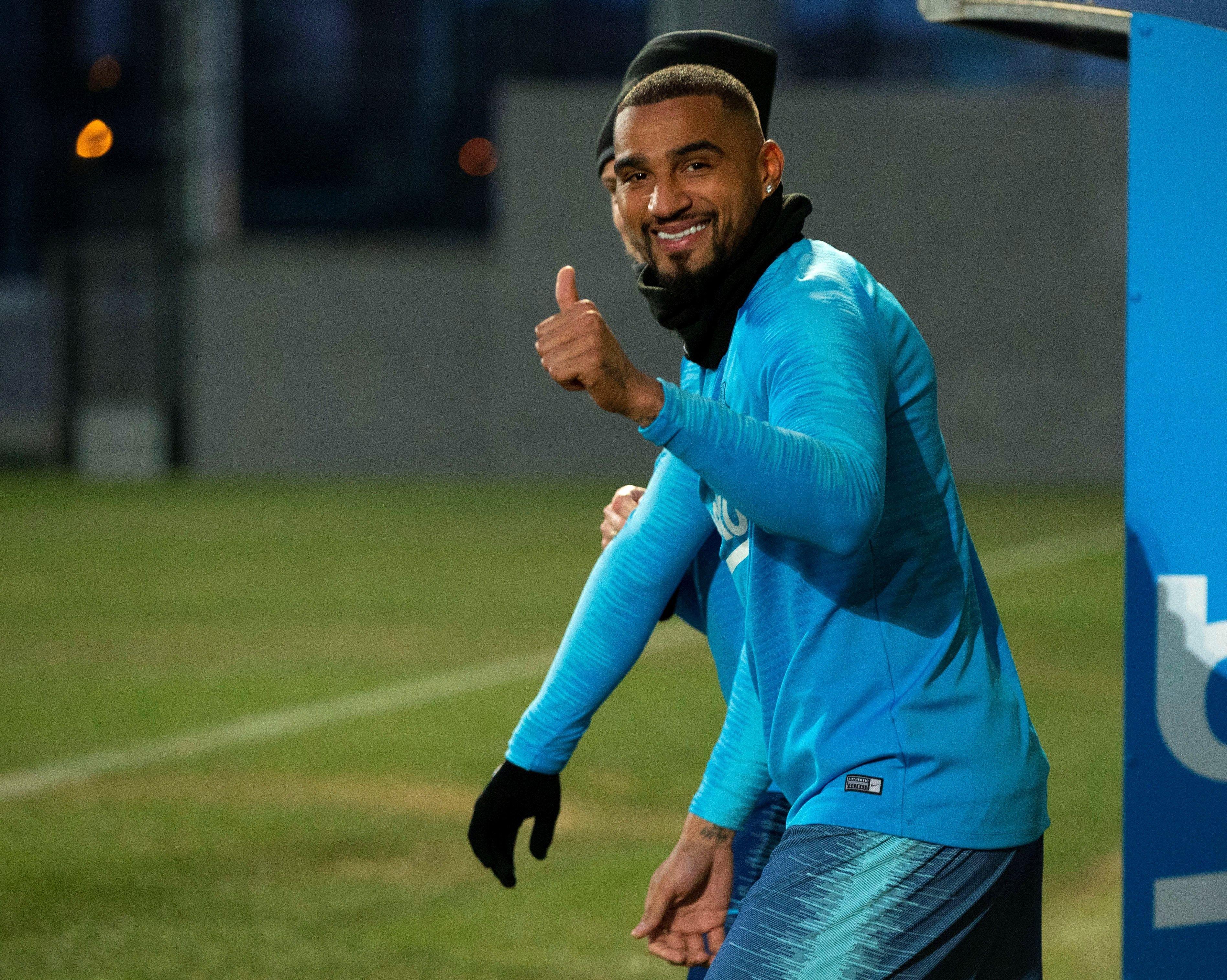 Boateng entrenament Barça EFE
