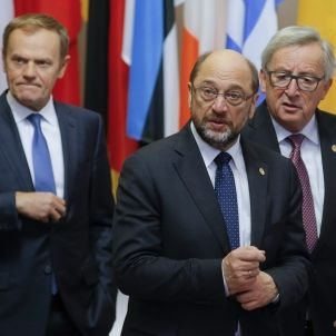 Tusk juncker Schulz ue europa efe