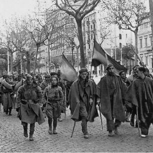 Inici de l'ocupació franquista de Barcelona. Font Centre d'Informació de Catalunya