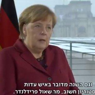 Angela Merkel televisio Israel