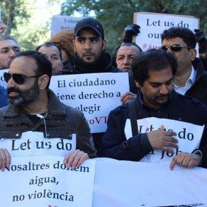 Manifestants VTC Anton Rosa pancartes