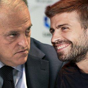 Javier Tebas Gerard Piqué EFE