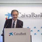 EuropaPress 1881174 El presidente de CaixaBank Jordi Gual durante la presentación de resultados de 2018 de CaixaBank en Valencia