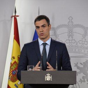 Pedro Sánchez declaració institucional Moncloa EFE