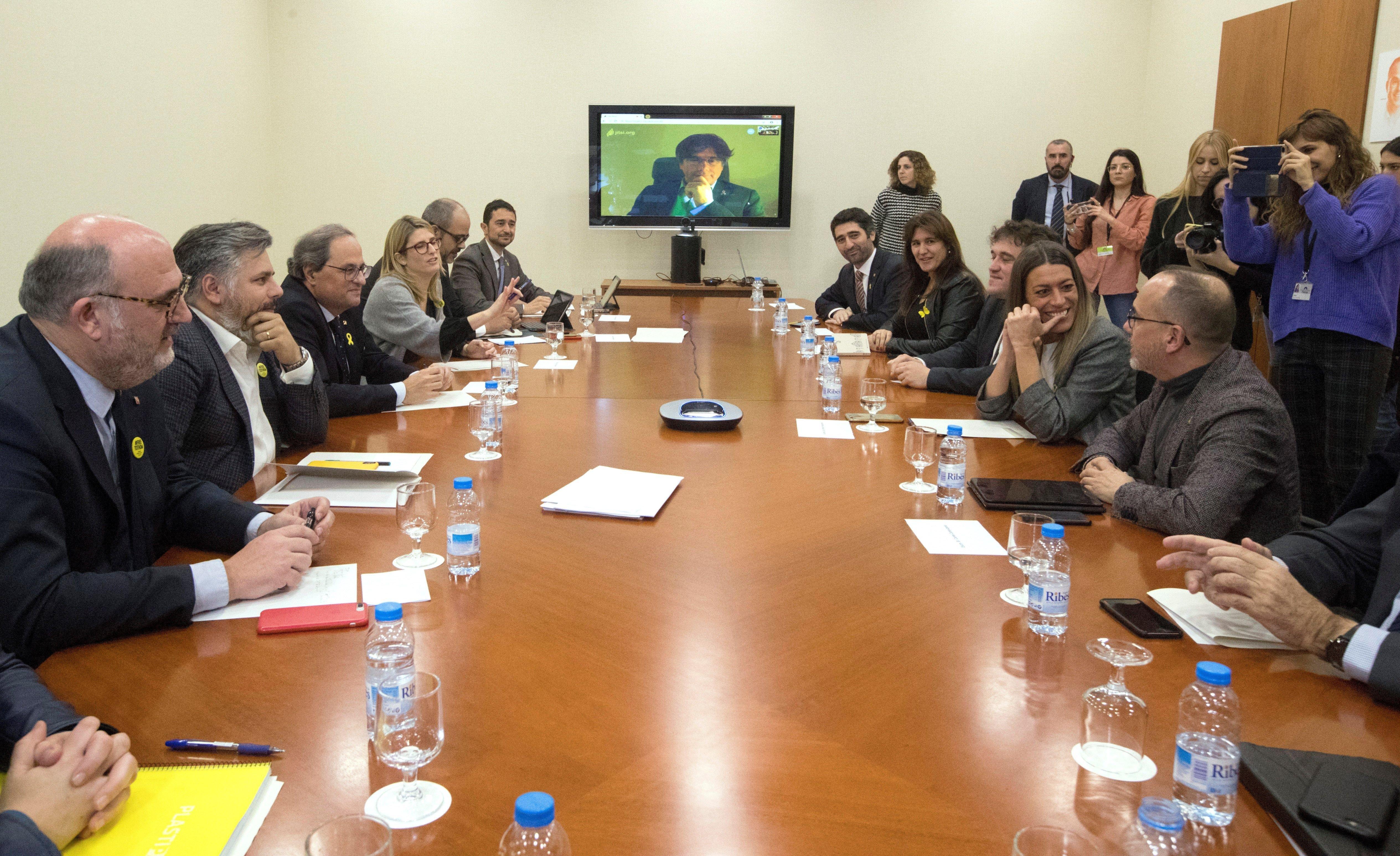 JxCat, PDeCAT, Crida Parlament Puigdemont Torra EFE