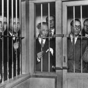 El president i els consellers a la Presó Model de Barcelona. Octubre 1934. Font Ajuntament de Barcelona