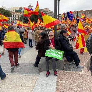 Cartells colpistes a presó Vox manifestacio dretes Madrid - Nicolas Tomás