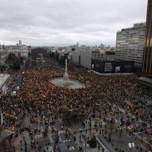 Manifestació Madrid Colón dialeg Catalunya - efe