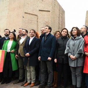 Casado, Rivera i Abascal Manifestacio dialeg Madrid - efe