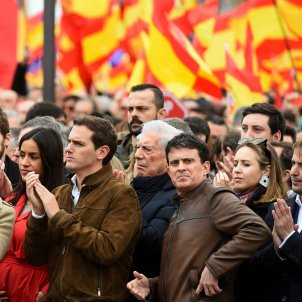 Manuel Valls manifestació Madrid Albert Rivera EFE