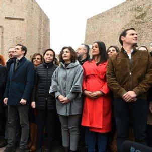Fotografia escenari Vox PP Cs Manifestació Colon Madrid EFE