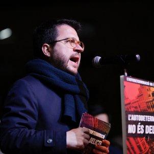 Pere Aragonès manifestació inici judici procés plaça catalunya - Sergi Alcàzar