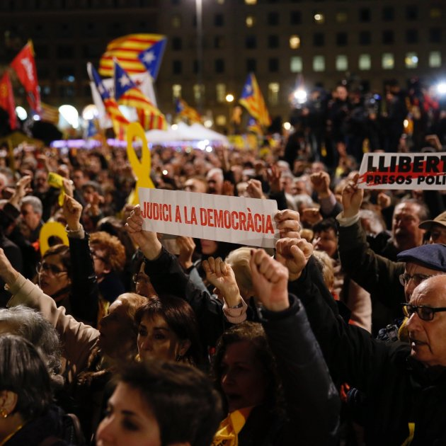 manifestació inici judici procés plaça catalunya - Sergi Alcàzar
