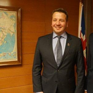 Gudlaugur Thór Thórdarsoniga ministre d'Afers Exteriors islandès - Estonian Foreign Ministry