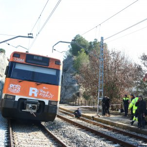 Xoc trens Castellgalí. ACN