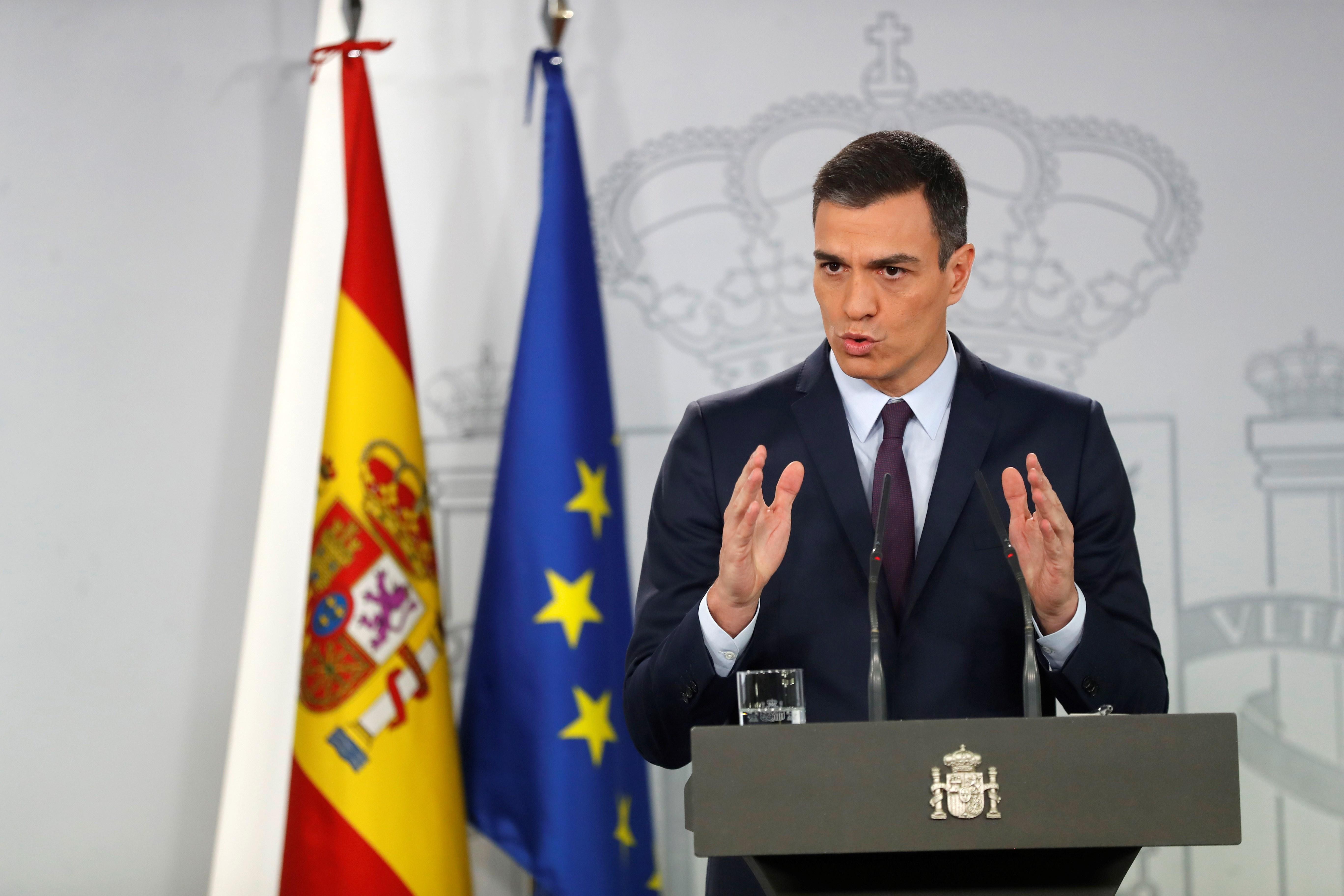 Pedro sanchez convocatoria electoral EFE
