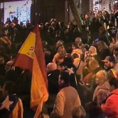 bandera espanyola manifestacio TV3