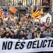Manifestacio Gran Via Judici Proces capçalera cartells presos - Sergi Alcàzar