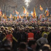 Manifestacio Gran Via Judici Proces vista aeria cartells presos - Sergi Alcàzar