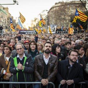 Manifestació judici proces gran via Torra Torrent Aragones Borras Batet -  Sergi Alcàzar
