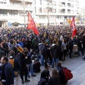 Concentració seu Generalitat Girona vaga general 21 de febrer - ACN