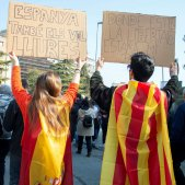 Manifestació vaga Lleida EFE