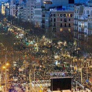 manifestacio passeig de gracia vaga general judici proces 21-F - Efe