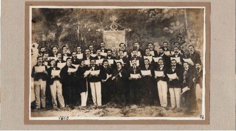 Mor Josep Anselm Clavé, promotor de la cultura musical entre les classes populars. Coral Euterpe (1860). Font Centre de Documentació de l'Orfeó Català
