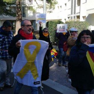 Rebuda Pedro Sanchez Argelers independentistes Jordi Palmer