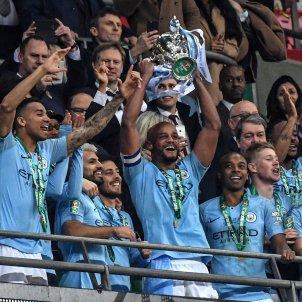Kompany Aguero Silva Fernandinho Manchester City Chelsea EFE