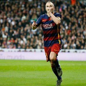 Andrés Iniesta Barça Madrid 2016 Bernabeu EFE