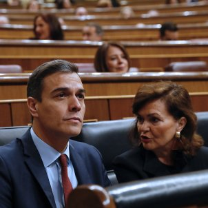 Pedro Sánchez Carmen Calvo Congres dels Diputats febrer 2019 EFE