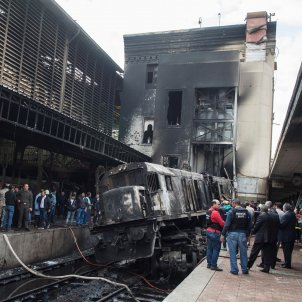 locomotora accident el cairo. efe