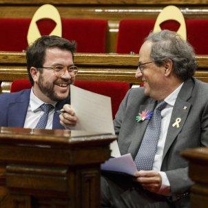 Ple Pressupostos Pere Aragones i Quim Torra Rient - Sergi Alcàzar