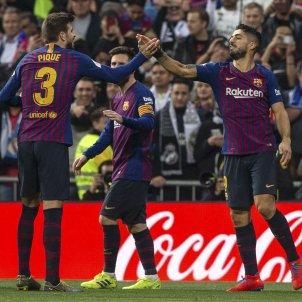Suarez Pique Messi Madrid Barca EFE