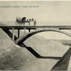 S'inaugura el Canal de Catalunya i Aragó. Canal de Saidí (1906). Font Diputació d'Osca. Col·lecció Salcedo