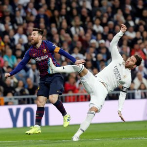 Messi Sergio Ramos Reial Madrid Barça EFE