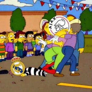 Meme Madrid Ajax @LosSimpsonsMX