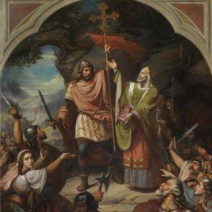 El rey Don Pelayo en Covadonga (Museo del Prado)