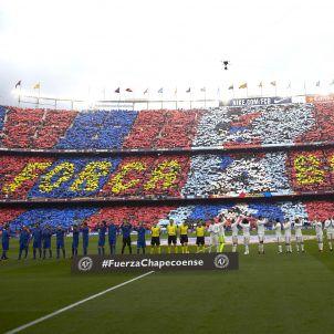 Mosaic Camp Nou Barça Reial Madrid Efe