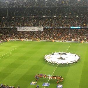 Barça Lió pancarta bernat aguilar