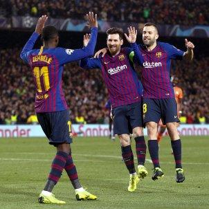 Démbélé Messi Alba Lió Champions EFE