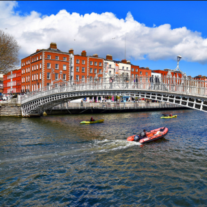Ha'penny bridge Dublin Cogswell Flickr